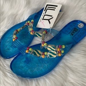 Women's Lilly of New York Jelly sandals beaded